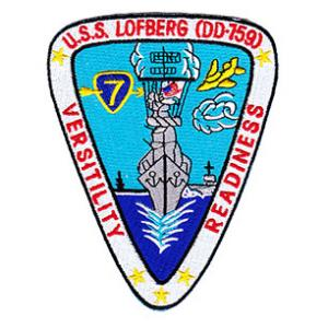 USS Lofberg DD-759 Ship Patch