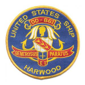 USS Harwood DD-861 Ship Patch