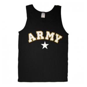 Army Tank Top with Star (Black)