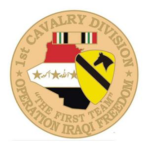 Operation Iraqi Freedom  1st Cavalry Division Pin