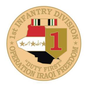 Operation Iraqi Freedom 1st Infantry Division  Pin