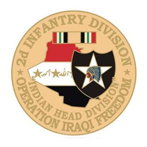 Operation Iraqi Freedom 2nd Infantry Division Pin