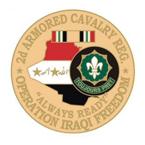 Operation Iraqi Freedom 2nd Armored Cavalry Regiment Pin