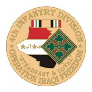 Operation Iraqi Freedom 4th Infantry Division Pin