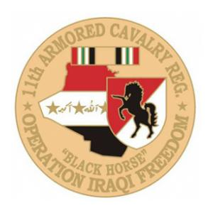 Operation Iraqi Freedom  11th Armored Cavalry Pin