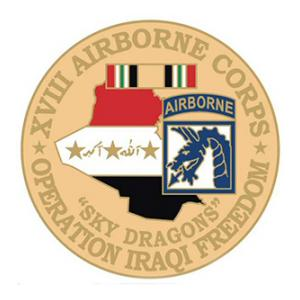 Operation Iraqi Freedom  18th Airborne Corps Pin