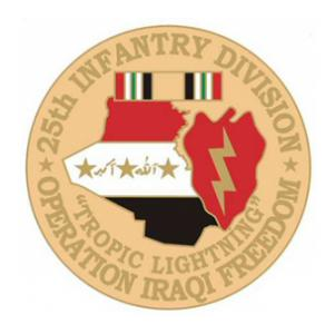 Operation Iraqi Freedom  25th Infantry Division Pin