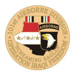 Operation Iraqi Freedom 101st Airborne Division Pin