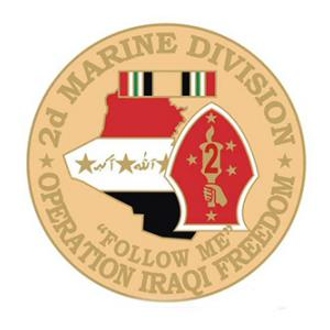 Operation Iraqi Freedom 2nd Marine Division  Pin