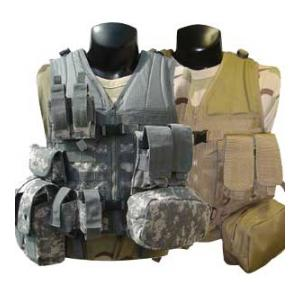 Modular Style Tactical Vest w/ 8 Pouches
