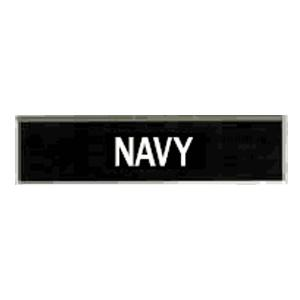 Navy Plastic Name Plate