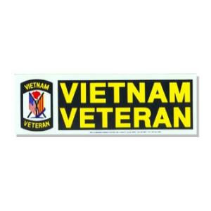 Vietnam Veteran Bumper Sticker Flying Tigers Surplus