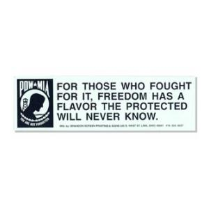 POW/MIA For Those Who Fought For It Bumper Sticker
