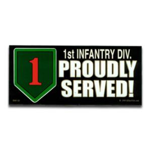 1st Infantry Division Proudly Served Bumper Sticker