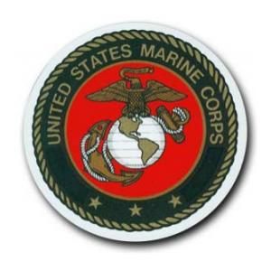 Marine Corps Bumper Sticker with Crest (Circular)