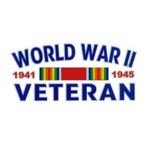 WWII Veteran Outside Window Decal with Ribbon