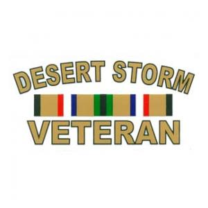 Desert Storm Veteran Outside Window Decal with Ribbons