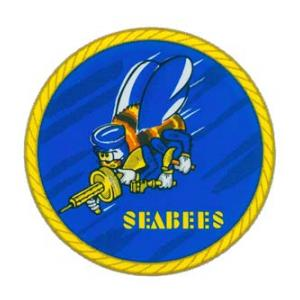 Navy Seabees Logo Outside Window Decal