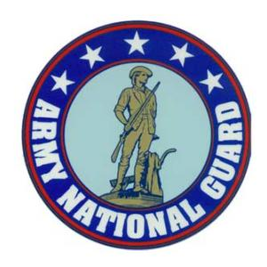 Army National Guard Outside Window Decal