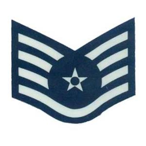 US Air Force E-5 Staff Sergeant Outside Window Decal