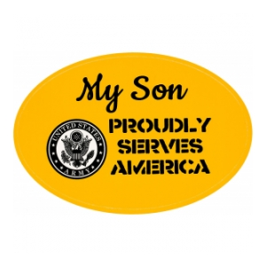 My Son Is In The Army Outside Window Decal