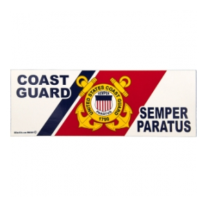 Coast Guard Semper Paratus Bumper Sticker Flying Tigers