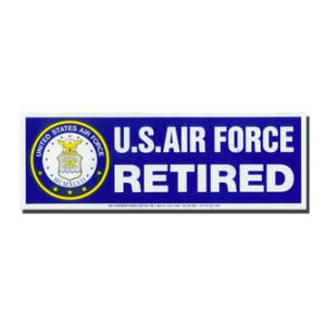 US Air Force Retired Bumper Sticker