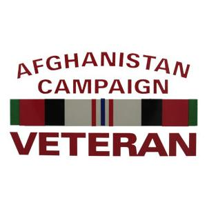 Afghanistan Campaign Veteran Outside Decal with Ribbon