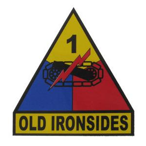 1st Armored Division Outside Decal with Old Ironsides