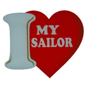 I Love My Sailor Outside Decal
