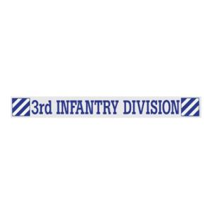 3rd Infantry Division Window Strip Decal