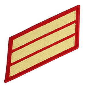 Marine Corps Service Stripes - Triple (Red/Gold)