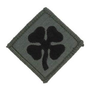 4th Army Patch Foliage Green (Velcro Backed)