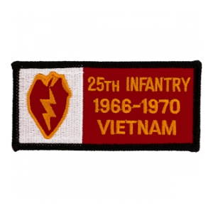 25th Infantry Division Vietnam Patch w/ Dates
