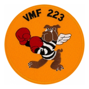 Marine Fighter Squadron VMF-223 The Fighting Bulldogs Patch