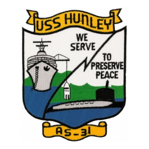 USS Hunley AS-31 Patch