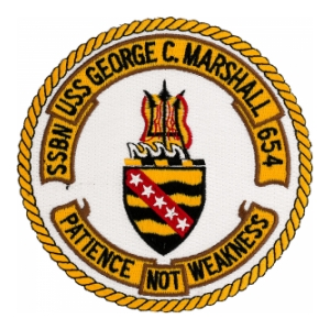 USS George C. Marshall SSBN-654 Patch