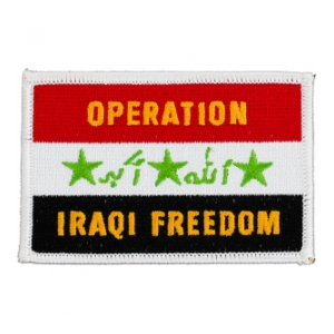 Operation Iraqi Freedom Flag Patch