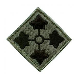4th Infantry Division Patch  Foliage Green (Velcro Backed)