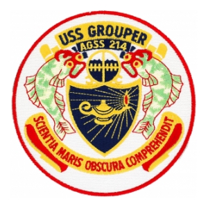 USS Grouper AGSS-214 PATCH