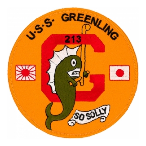 USS Greenling SS-213 Submarine Patch