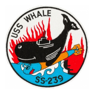 USS Whale SS-239 Submarine Patch