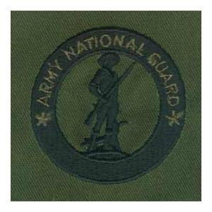 Army National Guard Recruiter Identification Badge (OD Green Sew On)