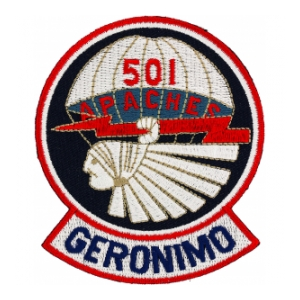 501st Airborne Infantry Regiment Patch (Geronimo)