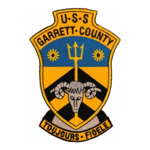 USS Garrett County LST-786 Ship Patch
