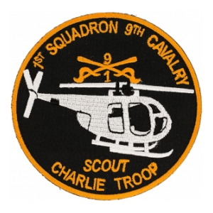 1st Squadron 9th Cavalry Scout Charlie Troop Helicopter Patch