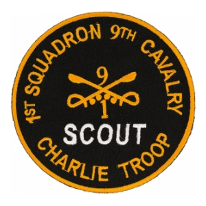 1st Squadron 9th Cavalry Scout Charlie Troop Patch