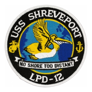 USS Shreveport LPD-12 Ship Patch