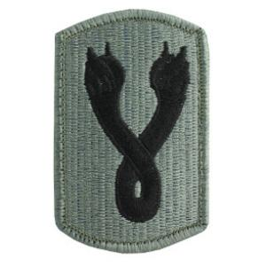 196th Infantry Brigade Patch Foliage Green (Velcro Backed)