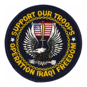 Operation Iraqi Freedom Support Our Troops Patch